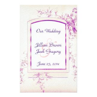 Songbird Shabby Chic WEDDING Program Full Color Flyer