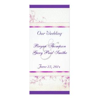 Songbird Shabby Chic WEDDING Program Custom Rack Cards