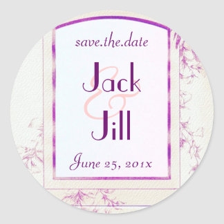 Songbird Shabby Chic WEDDING Save The Date Classic Round Sticker