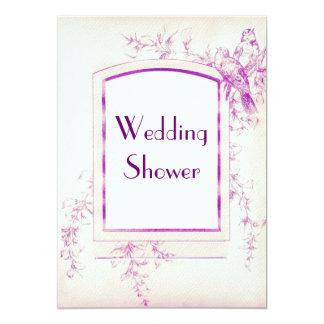 Songbird Shabby Chic Wedding Shower 5x7 Paper Invitation Card