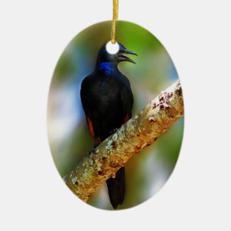 Songbird Starling blue bird Ceramic Ornament