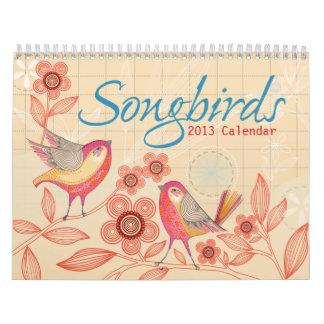 Songbirds 2013 Calendar
