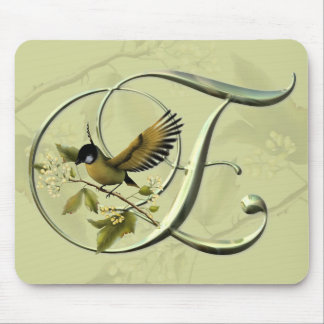 Songbirds Initial E Mouse Pad