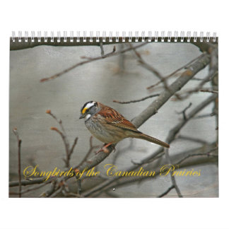Songbirds of the Canadian Prairies Wall Calendars