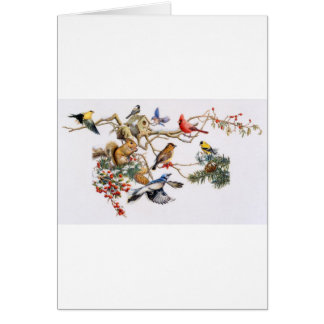 Songbirds on A Wing with Squirrel Card