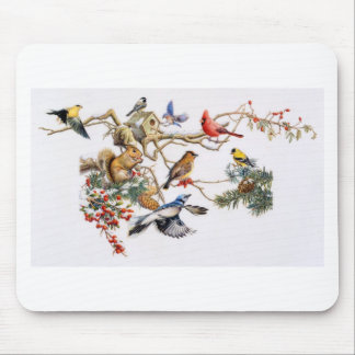 Songbirds on A Wing with Squirrel Mouse Pad