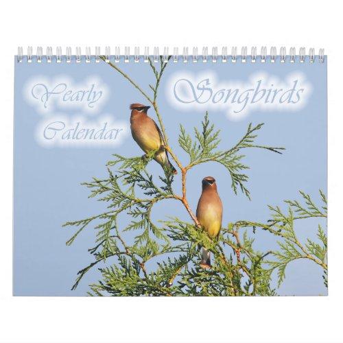 Songbirds Yearly Calendar calendar