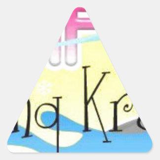 Songkran 2013 calcomanías de triangulos personalizadas