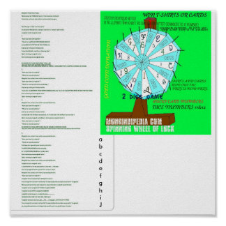 SONGMUNGINDIROCKROCK, spinning wheel LUCK, abcd... Poster
