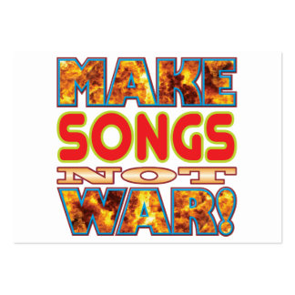 Songs Make X Large Business Cards (Pack Of 100)