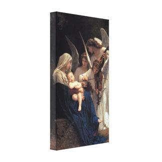Songs of Angels by Bougeureau Canvas Print