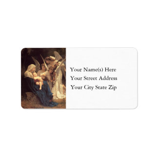 Songs of Christmas Angels Vintage Address Label