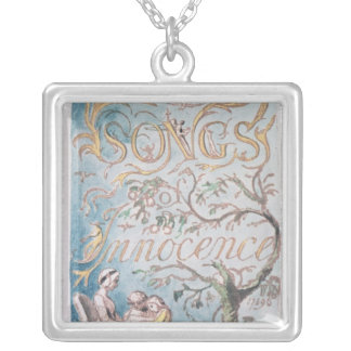 Songs of Innocence; Title Page, 1789 Silver Plated Necklace