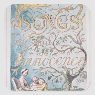 Songs of Innocence; Title Page, 1789 Square Sticker