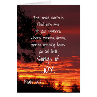 Songs of Joy Adult Baptism Greeting Card