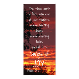 Songs of Joy Bible Verse Rack Card