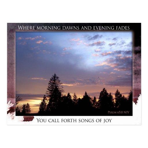 Songs of Joy postcard