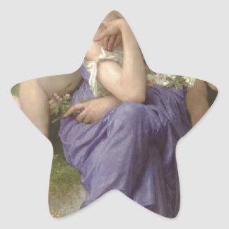 Songs of Spring by William-Adolphe Bouguereau Star Sticker
