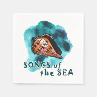 Songs of the sea standard cocktail napkin
