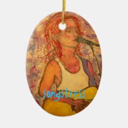 songstress art design ceramic ornament
