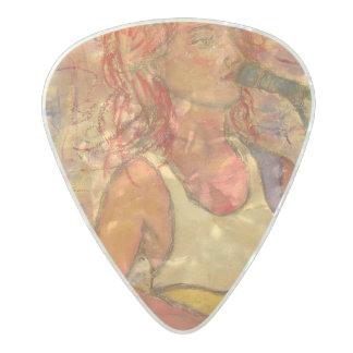 songstress art pearl celluloid guitar pick
