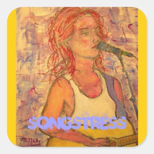 songstress art square sticker