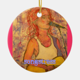 songstress ceramic ornament