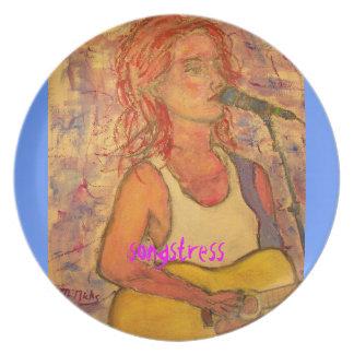 songstress design melamine plate