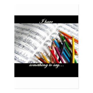 Songwriter - I have something to say Postcards