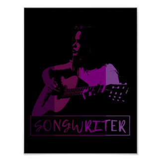 Songwriter In Purples Poster