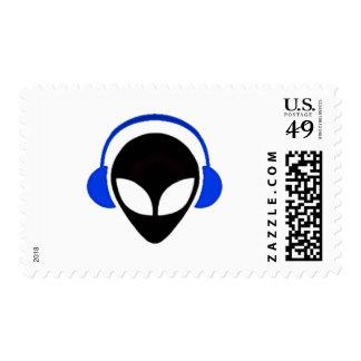 Sonic Alien Logo Postage
