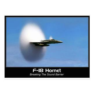 Sonic Boom F-18 Hornet Postcard