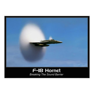Sonic Boom F-18 Hornet Poster Print