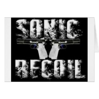 sonic recoil logo greeting card