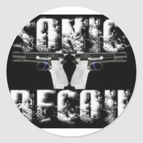 sonic recoil logo classic round sticker