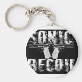 sonic recoil logo keychain