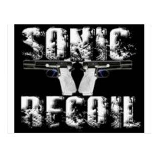 sonic recoil logo postcard