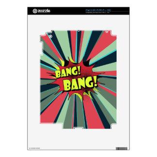 Sonido de efecto del cómic de la explosión de la iPad 2 calcomanías