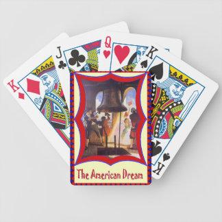 Sonido de la campana de libertad cartas de juego