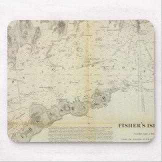 Sonido de la isla de Fisher Alfombrillas De Ratones