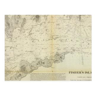 Sonido de la isla de Fisher Tarjetas Postales