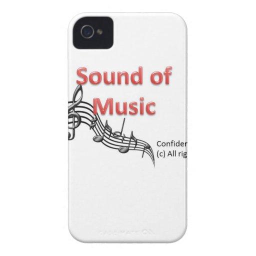 Sonido de la música Case-Mate iPhone 4 cobertura