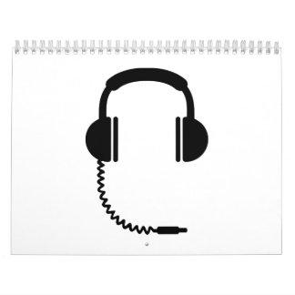 Sonido de la música de los auriculares calendario