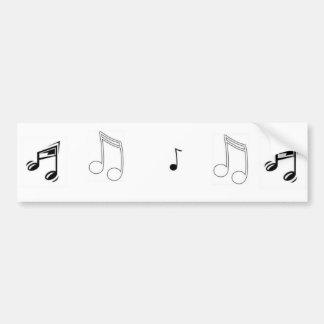 Sonido de la música pegatina para auto