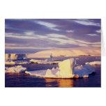 Sonido de la puesta del sol, tarjeta de felicitaci
