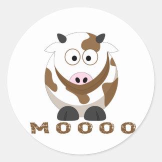 Sonido de la vaca pegatina redonda