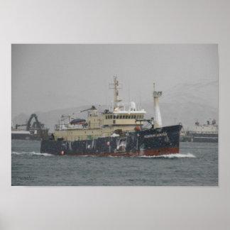 Sonido de Norton, palangrero en el puerto holandés Posters