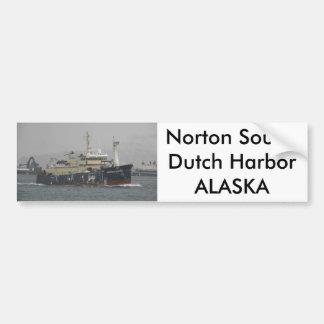 Sonido de Norton, palangrero en el puerto holandés Pegatina Para Auto