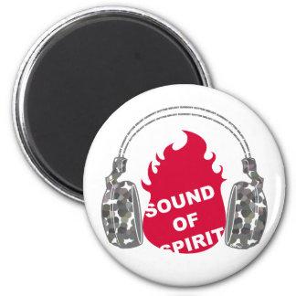 Sonido del alcohol imán redondo 5 cm