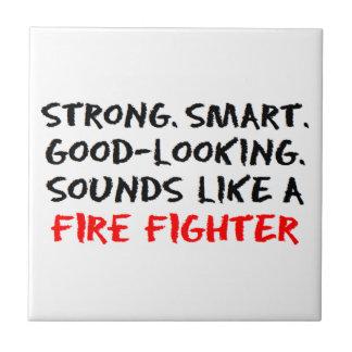 Sonido del bombero azulejo cuadrado pequeño